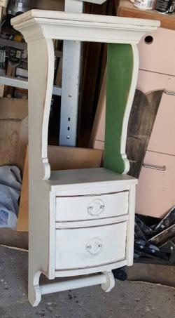 """a """"scrap"""" wall cabinet"""