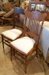 mismatched PRESSED BACKchairs