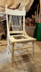 the newly painted chair