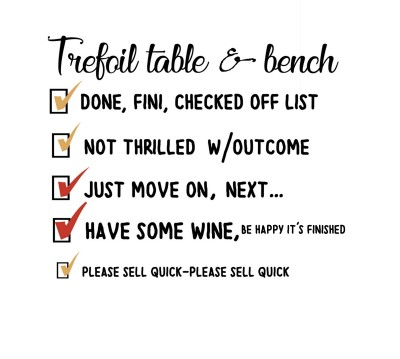 the TREFOIL table & bench