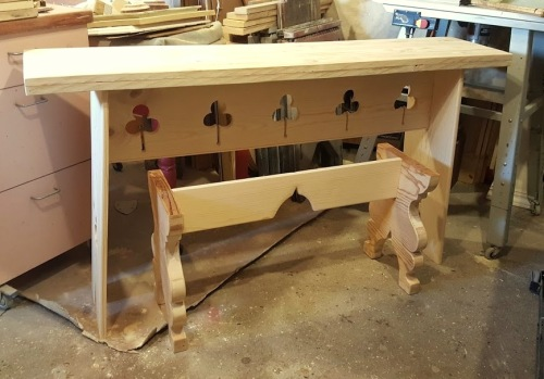 a work in progress~ the table & bench