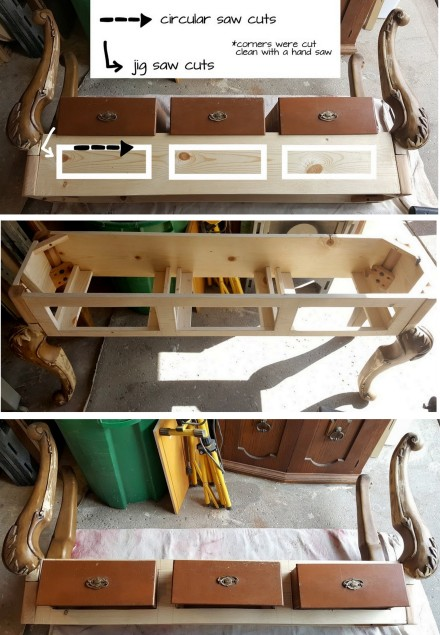 adding drawers, spacing, & cutting them out