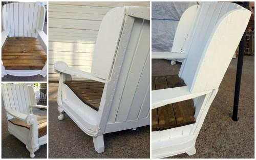 from a 1930-40's club chair to an Adirondack Porch Chair!