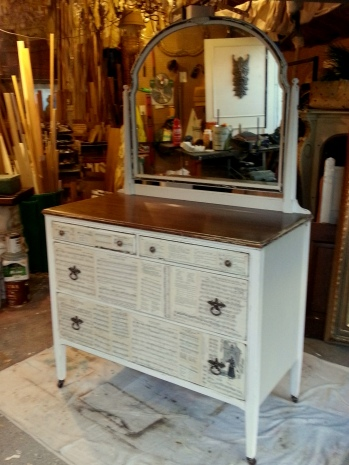one last makeover for Uncle Fred's dresser