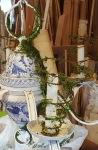 a stylized garden chandelier!