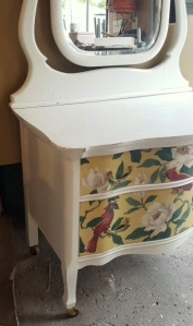 my newest Serpentine-fronted dresser project!