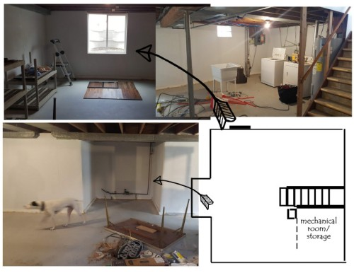 the basement layout-