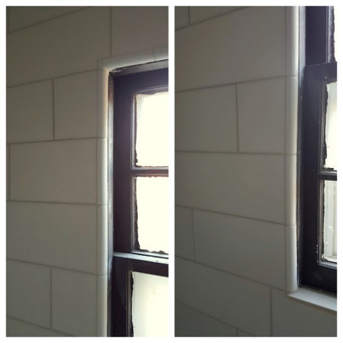 finding the RIGHT tile to go around the window