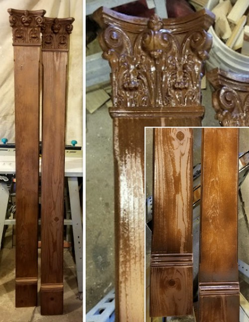 a pair of architectural Pilasters!