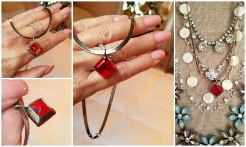 An orphaned earring to a necklace!