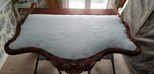 upholstering begins-