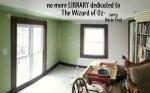 a LIBRARY no more-