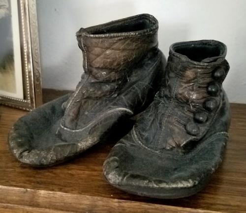 my grandpa's baby shoes!